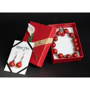 P101 - SET CORAL DUST AND SHAMBALLA BEADS