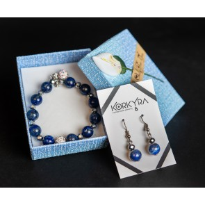 P102 - SET LAPIS LAZULI AND SHAMBALLA BEADS