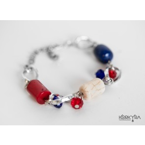 NR060 - CORAL, LAPIS LAZULI AND HOWLITE