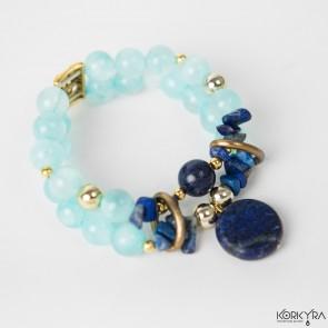 NR455 - BLUE AGATE AND LAPIS LAZULI