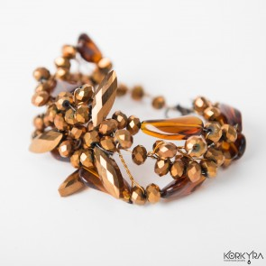 NR850 - GOLD GLASS BEADS